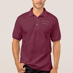 Don't Worry Polo Shirt w/Black Cross - gift for him present idea cyo design