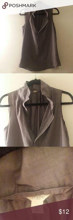 🌑 J. Crew gray open neck sleeveless top - size s Excellent condition. J. Crew Tops