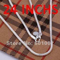 LQ-N192-24 Free Shipping 925 sterling silver necklace 925 necklace Silver fashion jewelry Necklace bfga jwna snwa