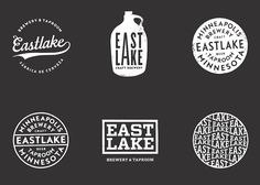 New Logo and Identity for Eastlake Brewery & Tavern by Rice Creative Beer Logo Design, Brewery Design, Hipster Design, Hipster Logo, Packaging Design Inspiration, Graphic Design Inspiration, Brand Inspiration, Brewery Logos, Circular Logo