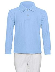 Boys Sleeve Pique Shirt Light. * To view further for this item, visit the image link. (This is an affiliate link) #PolosShirts
