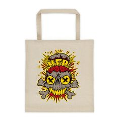 "Mind Flip Productions ""MFP Skull Logo"" Vinyl Record Tote bag"