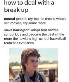 how to deal w/ a breakup by Steve Harrington