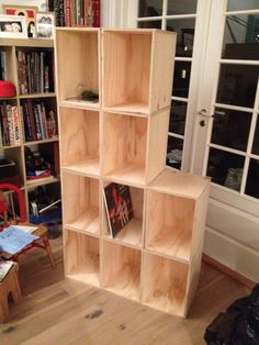 First ten out of twenty eight parts of Gunnar's specially designed module shelving for vinyl records. Dig?