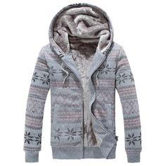 24.84$  Buy now - http://dig1n.justgood.pw/go.php?t=198830205 - Winter Warm Fleece Rib Sleeve Hoodie 24.84$