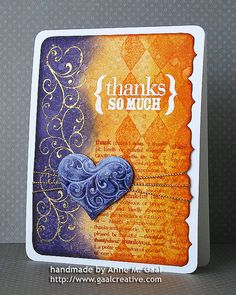 card by Anne Gaal.... post has a Watercolor Distress Ink Tutorial (in sidebar on Flickr) included