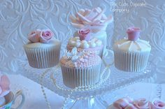Pearls and lace cupcakes