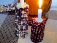 Corn Candle Holders / cute for fall time