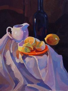 """Картина маслом """"Натюрморт с лимоном"""""""