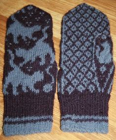 Cat Mittens Knitting Stitches, Knitting Patterns, Crochet Patterns, Knitting Ideas, Mittens Pattern, Knit Mittens, Yarn Projects, Knitting Projects, Knit Crochet