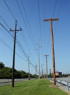 Utility poles in Rochester. https://www.flickr.com/photos/tietoukka/27146293266/
