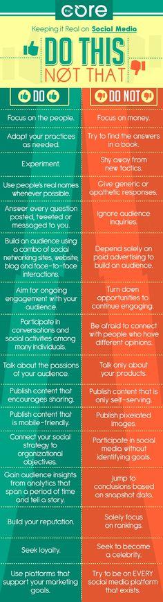Social media do's and dont's #socialmedia