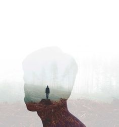 Incredible Double Exposure Portraits by Muhammed Faread #inspiration #photography