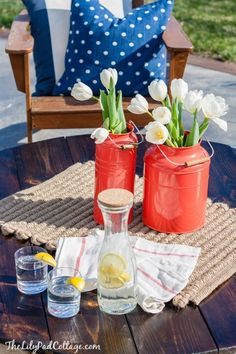 DIY Fire Pit Table Top | The Lilypad Cottage