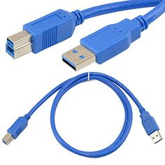 High Speed 3ft 1m USB 3.0 A Male To B Male Plug Adapter Extension Cable Generic http://www.amazon.com/dp/B00MMVKVB8/ref=cm_sw_r_pi_dp_xh8hub03W38X1