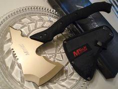 Mtech Gold Titanium Hawk Throwing Axe Hatchet Spike Knife Full Tang MT-AXE13GD