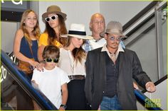 Johnny Depp & Amber Heard depart a flight at Narita International Airport with his kids Lily-Rose and Jack on July 18, 2013