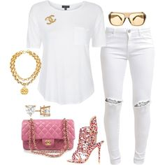 Untitled #487 by fashionkill21 on Polyvore featuring polyvore, fashion, style, Topshop, FiveUnits, Sophia Webster, Chanel, Allurez, CÉLINE and clothing