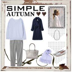 秋のさわやかオフィスコーデ。骨格ストレートでカラーはサマー…|iQON Smart Casual Work Outfit, Fasion, Personal Style, Autumn, My Style, Simple, Cute, How To Wear, Clothes