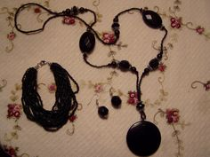 Black Jewelry Set CLEARANCE SALE by MsMuffinTiggywinkles on Etsy, $6.39