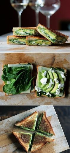 spinach...avocado...goad... cheese...grilled | must try!