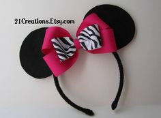 Minnie Mouse Zebra Ears