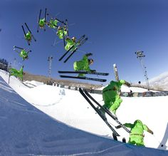 Simon Dumont, regarded as the best pipe skier in the World.