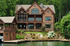 Lakehouse exterior on pinterest rustic home plans lake Luxury lake house plans