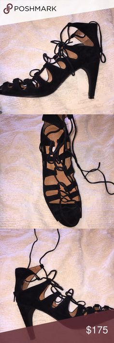 NWT NIB Jeffrey Campbell Free People Heels brand new in box Jeffrey Campbell for Free People black leather lace up heels, absolutely stunning! comes with box and heel cap replacements, only one shoe is photographed since the other is still completely wrapped up and untouched!  ✨just trying to clean out my closet, make an offer and it's yours!✨ Jeffrey Campbell Shoes Heels