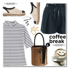 """""""Coffe break"""" by paculi ❤ liked on Polyvore featuring Tory Burch, StreetStyle, Summer, stripe, espadrilles and coffebreak"""