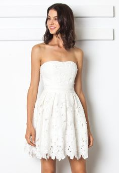 San Souci Floral Lace Tube Dress $39.90, sanscoucistores.com