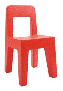 Seggiolina Pop stoel, oranje, 4 stuks.