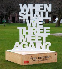 Beyond Macbeth - National Libraries of Scotland & The Union - Locations throughout Edinburgh