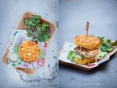 burgers de coquillettes - Photographie culinaire hamburgers