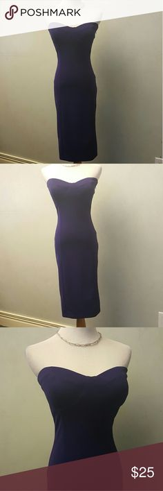 Purple tube top dress Purple tube top dress in great condition. Has padding in the chest not a built in bra. Worn 1x Dresses