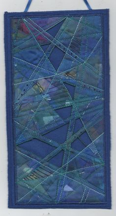 fused quilt art | Margaret Beal style fused fabric hanging.