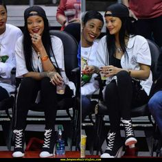 Rihanna Watches The Clippers In DKNY For Opening Ceremony - http://www.beyoncehairstyles.com/rihanna-watches-the-clippers-in-dkny-for-opening-ceremony.html