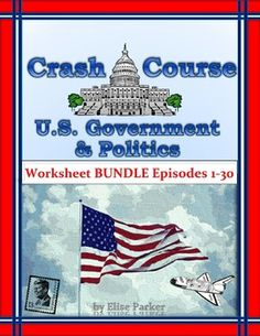 BARGAIN-PRICED BUNDLE TO HELP YOU TEACH WITH HUMOR USING CRASH COURSE U.S. GOVERNMENT AND POLITICS!Teach with Humor using Crash Course Government!Few classroom strategies are as successful as this simple approach: make learning fun! For government or civics classes, one easy way to work in some student enjoyment is by showing episodes of Crash Course U.S.Government and Politics.