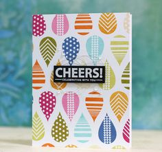 Cheers Card by Laura Bassen for Papertrey Ink (July 2015)