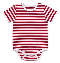 Marimekko Marimekko Vaude Short-Sleeved Baby Onesie Red/White - KIITOSlife