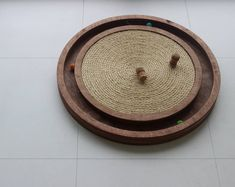 This cat scratcher and ball toy is what caught my attention of this Etsy Seller. Cat Water Fountain, Interactive Cat Toys, Cat Hammock, Cat Scratching Post, Funny Toys, Cat Scratcher, Cat Carrier, Cat Accessories, Cat Furniture