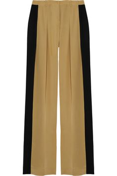 Color-block wide-leg silk pants by Robert Rodriguez