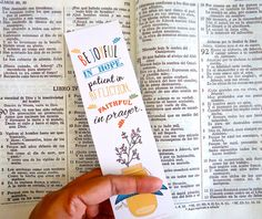 Christian Printable Bookmarks. Romans 1212. by aLittleBirdTweetme, (download - $5.00)