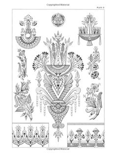 Dover publications Creative Haven Art Deco Egyptian Designs Coloring Book. Artwork adapted from designs by Paul Marie. Tatoo Art, Art Deco Tattoo, Tattoo Studio, Molduras Vintage, Desenho Tattoo, Ancient Egyptian Art, Art Nouveau Design, Doodles Zentangles, Motif Floral