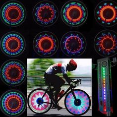 16 LED Car Motorcycle Cycling Bike Bicycle Tire Valve Wheel Flashing Spoke Light #Unbranded