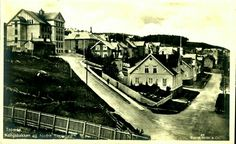 Troms fylke Tromsø Kongsbakken og Nedre Skolegate, mot nord Utg Mittet