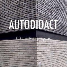 Autodidact |ˌôtōˈdīˌdakt| mid 18th century origin from Greek autodidaktos 'self-taught,' from autos 'self' + didaskein 'teach.'