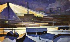 Олег Вишняков - «Ночь», 1962 Soviet Art, Stairs, Painting, Home Decor, Ladders, Homemade Home Decor, Stairway, Painting Art, Paintings