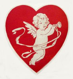 ♡ Your Heart is Mine, Valentine ♡  vintage cupid heart