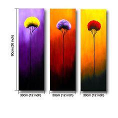 Purple Tulips, Purple Art, Yellow Flowers, 5 Piece Canvas Art, Canvas Wall Art, Still Life Flowers, Painting Still Life, Online Painting, Art For Sale